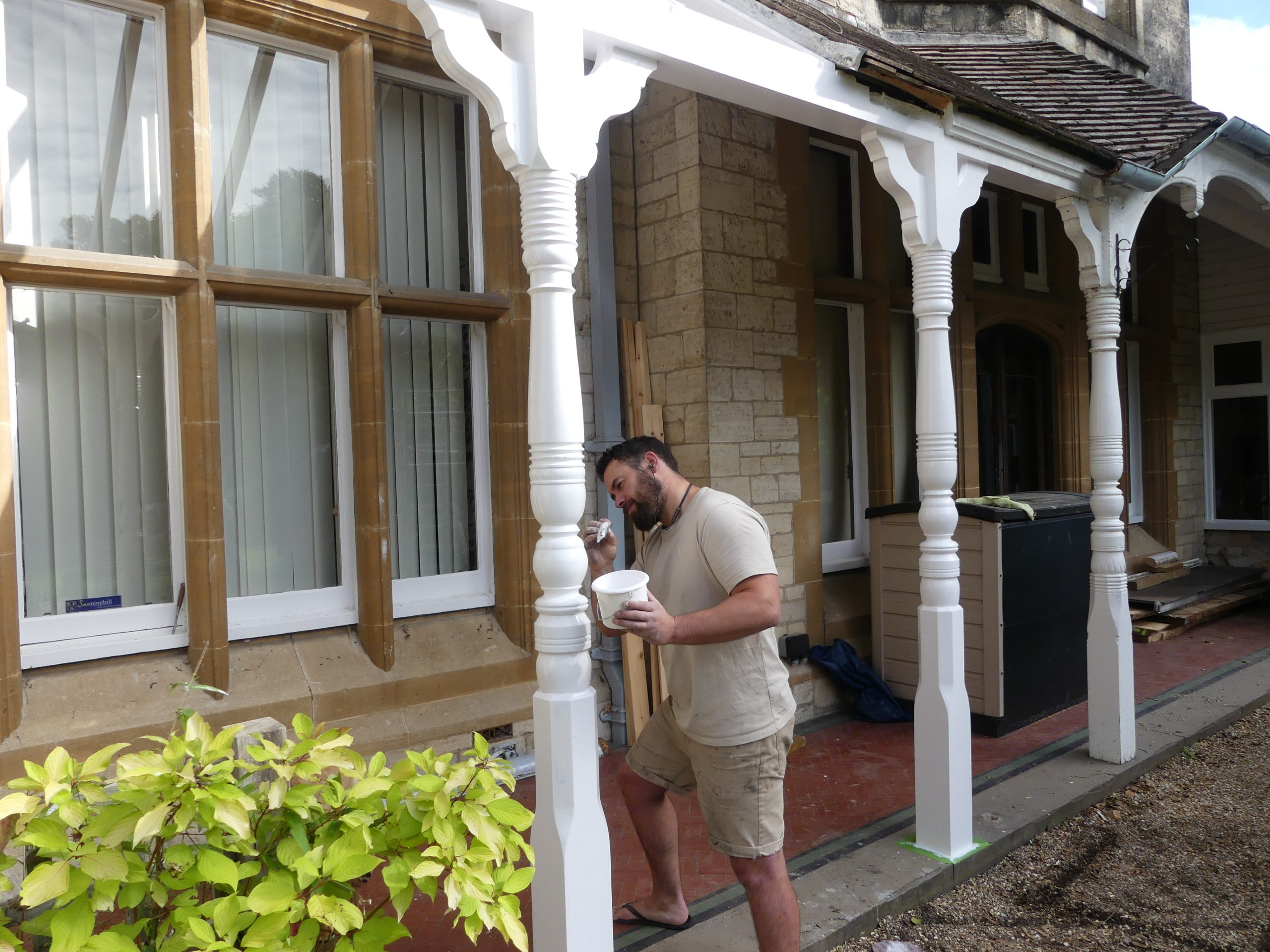 Repairing the verandah