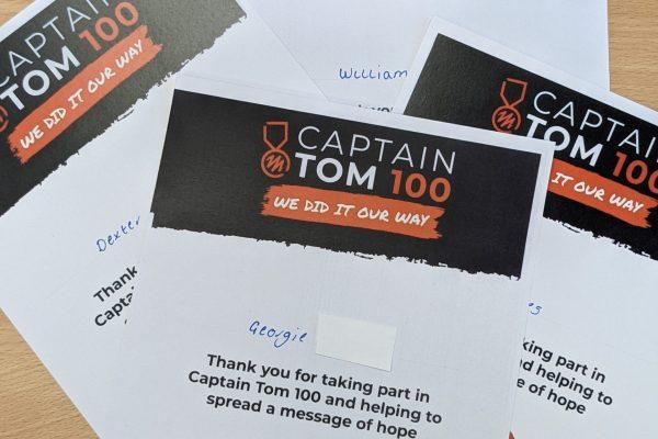 Captain Tom 100 certificates